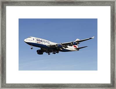 One World Boeing 747 Framed Print