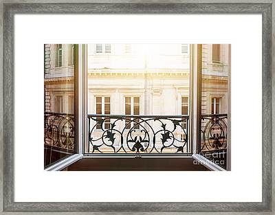 Open Window In Toulouse Framed Print by Elena Elisseeva