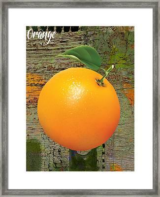 Orange Collection Framed Print by Marvin Blaine