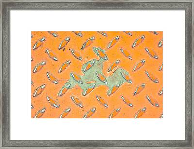 Orange Metal Framed Print