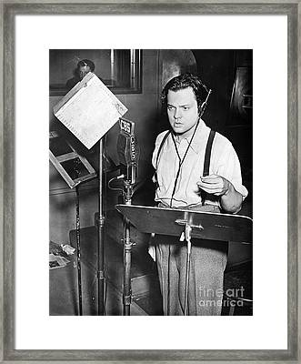 Orson Welles (1915-1985) Framed Print