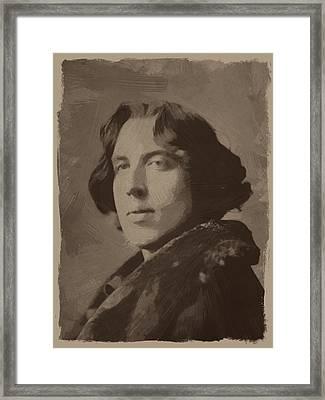 Oscar Wilde 2 Framed Print by Afterdarkness