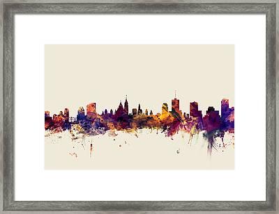 Ottawa Canada Skyline Framed Print by Michael Tompsett