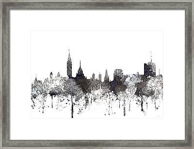 Ottawa Ont.skyline Framed Print by Marlene Watson