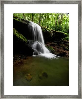 Otter Falls - Seven Devils, North Carolina Framed Print