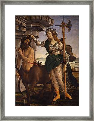 Pallas And The Centaur Framed Print