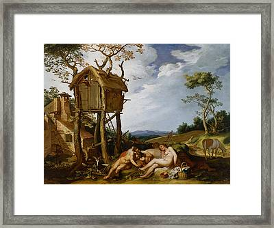Parable Of The Wheat And The Tares Framed Print