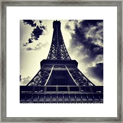 #paris Framed Print