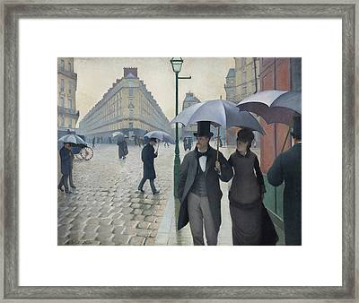 Paris Street, Rainy Day Framed Print