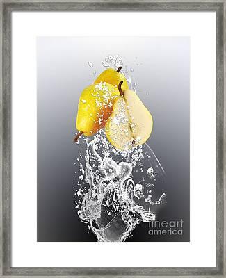 Pear Splash Collection Framed Print by Marvin Blaine