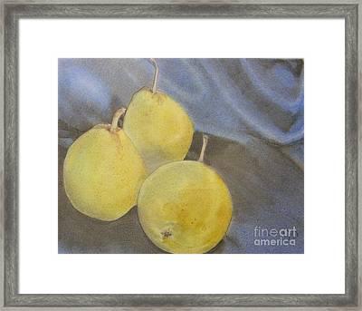 3 Pears Framed Print by Crispin  Delgado