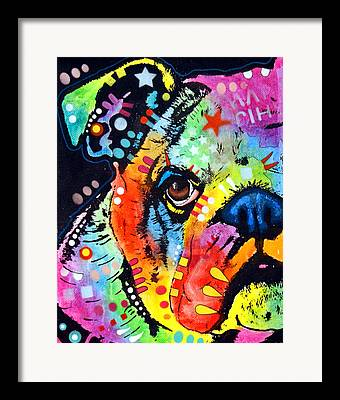 Dog Paintings Framed Prints