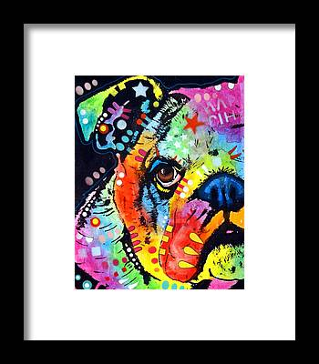 Colorful Dog Framed Prints