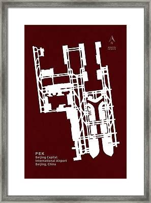 Pek Beijing Capital International Airport In Beijing China Runwa Framed Print