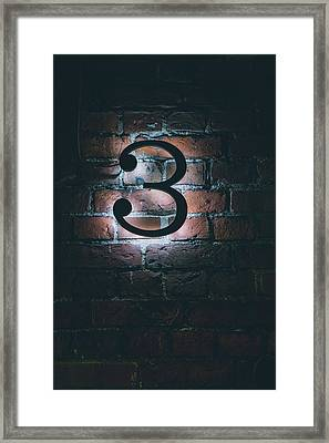 3 Framed Print by PeliKes