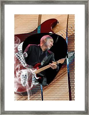 Pete Townshend Art Framed Print by Marvin Blaine