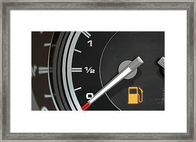 Petrol Gage Empty Framed Print