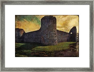 Pevensey Castle Ruins Framed Print by Chris Lord