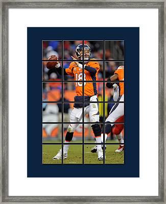 Peyton Manning Broncos Framed Print