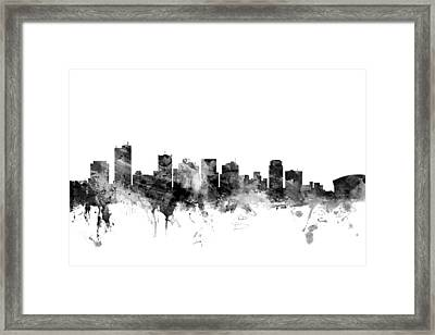 Phoenix Arizona Skyline Framed Print by Michael Tompsett