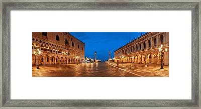 Framed Print featuring the photograph Piazza San Marco Night by Songquan Deng
