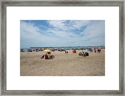 Pimentel Beach Town Framed Print