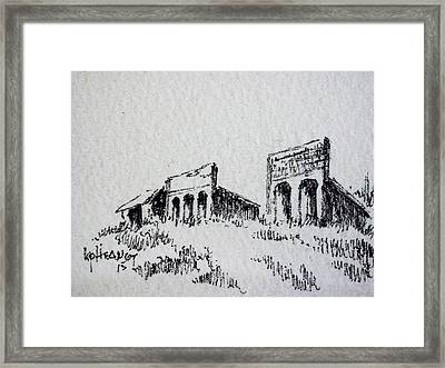 Pioneer Ghost Town Montana Framed Print by Kevin Heaney