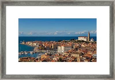 Piran Framed Print