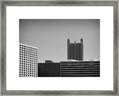 Pittsburgh Infrared Architecture Framed Print