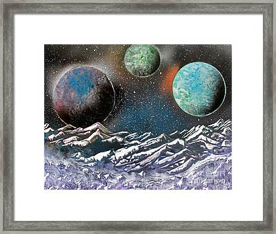 3 Planets 4664 Framed Print by Greg Moores
