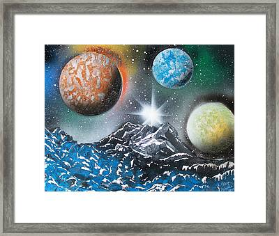 3 Planets 4687 Framed Print by Greg Moores