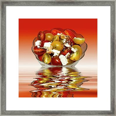 Plum Cherry Tomatoes Framed Print by David French