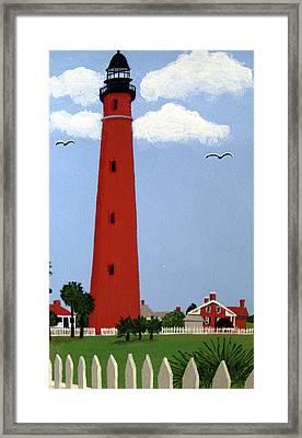 Ponce Inlet Lighthouse Framed Print by Frederic Kohli