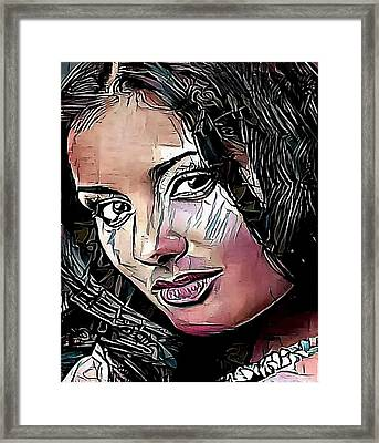 portrait woman  - My WWW vikinek-art.com Framed Print