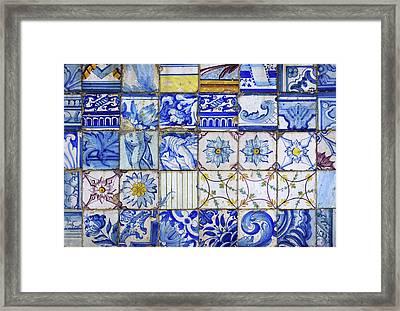 Portuguese Tiles Framed Print by Carlos Caetano
