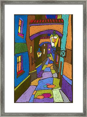 Prague Old Street Framed Print