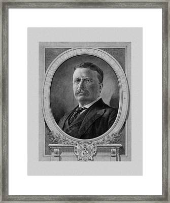 President Theodore Roosevelt Framed Print by War Is Hell Store