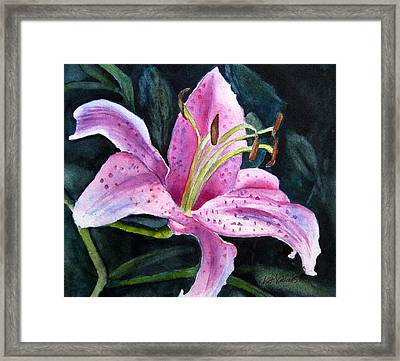 Pretty In Pink Framed Print by Pat Vickers