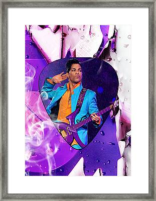 Prince Purple Rain Art Framed Print