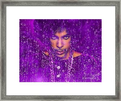 Prince Purple Rain Tribute Framed Print