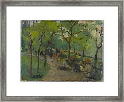Prospect Park Framed Print by MotionAge Designs