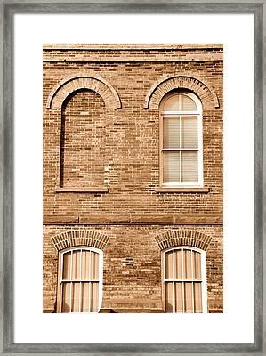 3 Quarters Sepia Framed Print by Caroline Clark