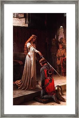 Queen Guinevere And Sir Lancelot Framed Print