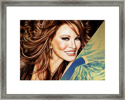 Raquel Welch Collection Framed Print by Marvin Blaine