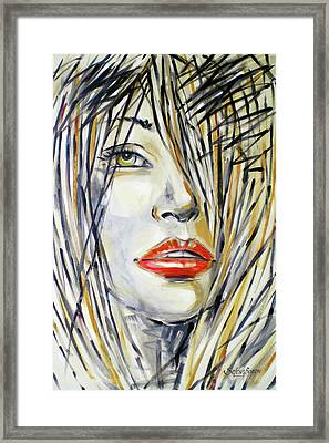 Red Lipstick 081208 Framed Print