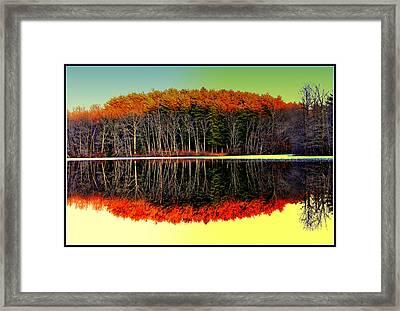 Reflections At Farrington Lake Framed Print