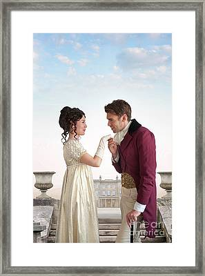 Framed Print featuring the photograph Regency Couple  by Lee Avison