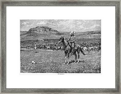 Remington: Cowboy, 1888 Framed Print by Granger