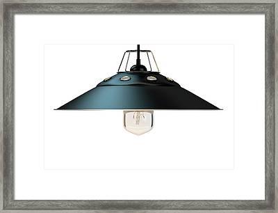 Retro Light Fitting Framed Print by Allan Swart
