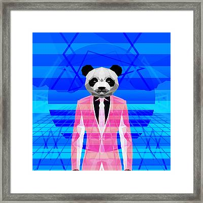 Retro Panda Framed Print by Gallini Design